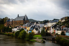 Старая деревня в Германии Стоковая Фотография
