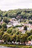 Старая деревня европейца озера Стоковое фото RF