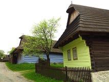 Старая деревня конструкции, Vlkolinec, Словакия Стоковое фото RF
