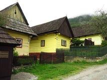 Старая деревня конструкции, Vlkolinec, Словакия Стоковая Фотография RF