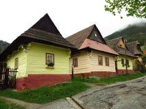 Старая деревня конструкции, Vlkolinec, Словакия Стоковое Фото
