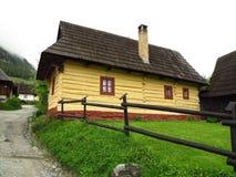 Старая деревня конструкции, Vlkolinec (ЮНЕСКО), Словакия Стоковые Фото