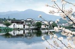 Старая деревня Hongcun, Аньхоя, Китая стоковые фото
