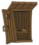 Старая деревянная лачуга гальюна Стоковые Изображения