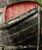 Старая деревянная баржа реки Стоковое Изображение