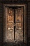 Старая деревянная дверь в городке Кашгара старом Стоковое Изображение