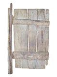 Старая деревянная дверь изолированная на белизне Стоковая Фотография