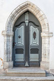 Старая деревянная готская дверь Стоковая Фотография RF