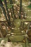 Старая деревянная лестница Стоковые Фото