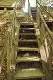 Старая деревянная лестница Стоковая Фотография RF