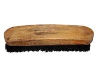 Старая деревянная изолированная щетка Стоковое Изображение