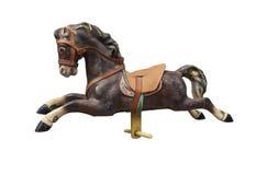 Старая деревянная и винтажная лошадь Carousel Стоковое Фото