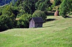 Старая деревянная казарма Стоковая Фотография