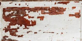 Старая деревянная коричневая текстурированная предпосылка с цветом белизны краски шелушения Место для вашего текста Стоковое Изображение RF