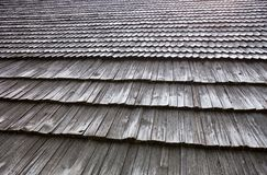 Старая деревянная крыша гонта Стоковые Фото