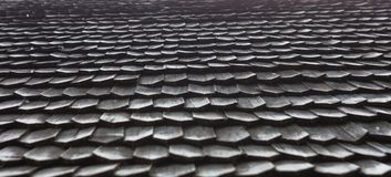 Старая деревянная крыша гонта Стоковые Изображения RF