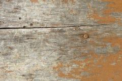 Старая деревянная поверхность с краской на ей предпосылка ретро Стоковые Фото