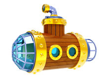 Старая деревянная подводная лодка Стоковое фото RF