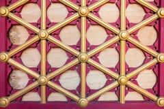 Старая деревянная предпосылка фарфора двери Стоковая Фотография