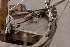 Старая деревянная рыбацкая лодка стоковое фото