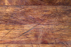 Старая деревянная текстура предпосылки разделочной доски Стоковые Фото
