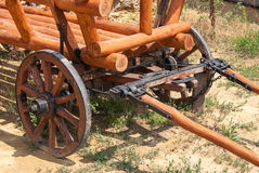 Старая деревянная тележка Стоковое Фото