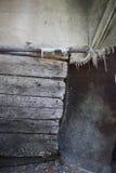 Старая деревянная ткань и пефорированный металл Стоковое Фото