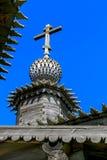 Старая деревянная церковь в деревне Стоковая Фотография RF