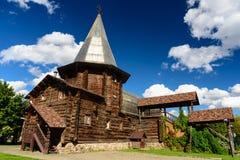 Старая деревянная церковь в Москве, России стоковое изображение rf