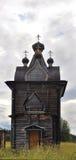 Старая деревянная церковь в севере России Стоковое Изображение
