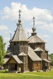 Старая деревянная церковь в Suzdal, России Стоковые Фотографии RF
