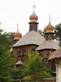 Старая деревянная церковь Стоковое Изображение