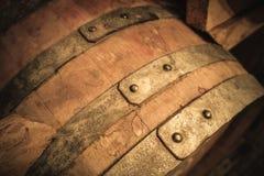 Старая деталь бочонка вина Стоковые Изображения RF
