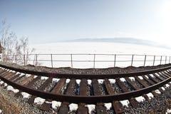 старая железная дорога Стоковая Фотография