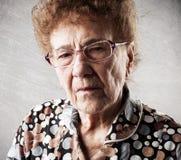 старая женщина портрета Стоковые Фотографии RF