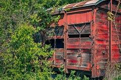 старая железнодорожная фура деревянная стоковые изображения rf