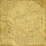 Старая желтая бумага grunge Стоковые Фото