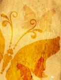 Старая желтая пятнистая бумага Стоковое фото RF