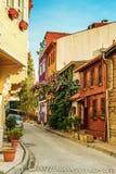 Старая живописная улица Стоковая Фотография