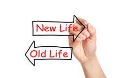 Старая жизнь или новая жизнь Стоковое Изображение