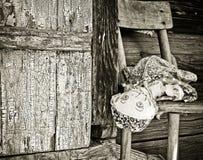 старая забытая куклой стоковая фотография