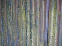 Старая загородка волнистого железа Стоковые Фото