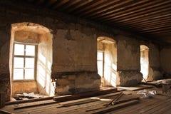 старая загубленная комната Стоковое Изображение