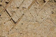 старая загубленная стена текстуры Стоковая Фотография