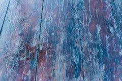 Старая залакированная огорченная деревянная столешница Стоковое фото RF