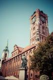 Старая заполированность ратуши города: Ratusz Staromiejski Торун, Польша стоковое фото