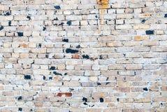 Старая запятнанная кирпичная стена, предпосылка Стоковые Изображения