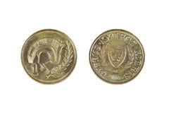 Кипр один цент Стоковое Изображение