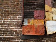 Старая залатанная дверь поставки Стоковые Фото