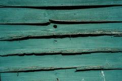 Старая зеленая загородка Стоковые Изображения